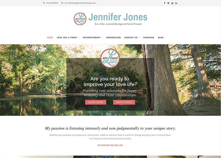Jen Jones Therapy Website