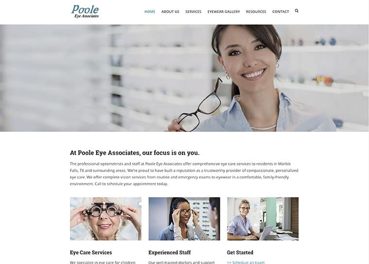 Poole Eye Associates Website