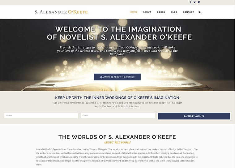 S. Alexander O'Keefe Website