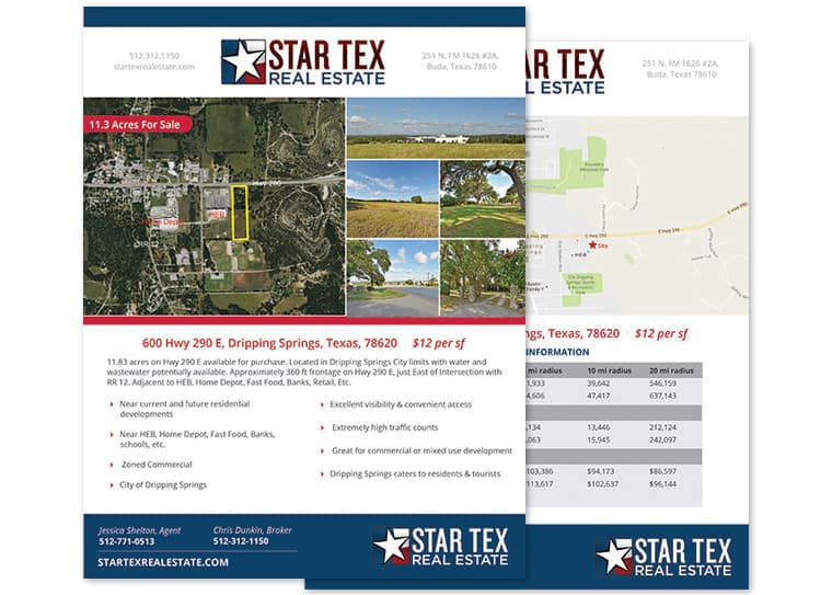 StarTex Real Estate Flyer