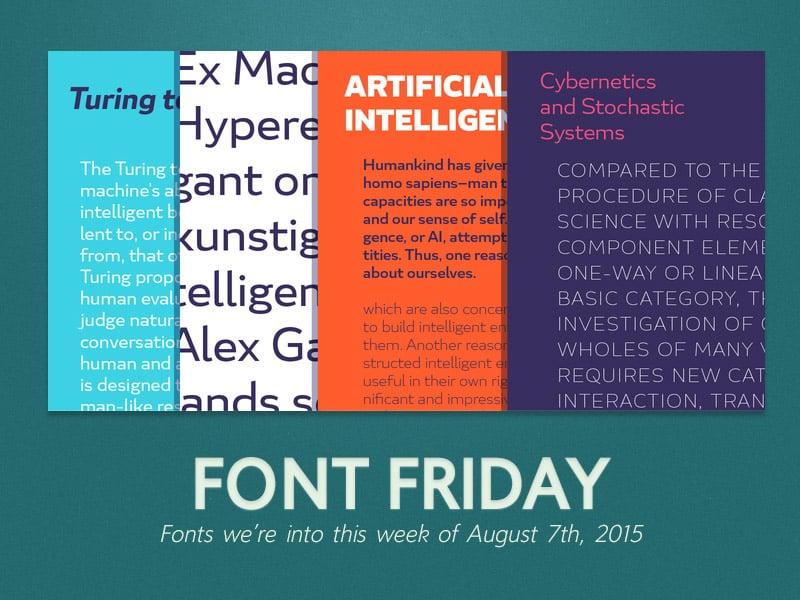 Font Friday: 8/7/15